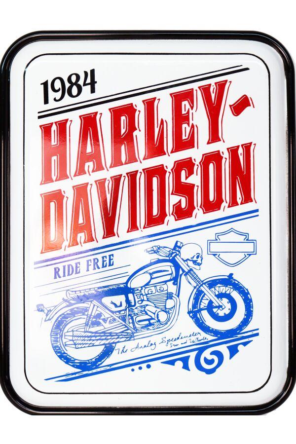 Retro Metallskylt Ride Free Motorcycle