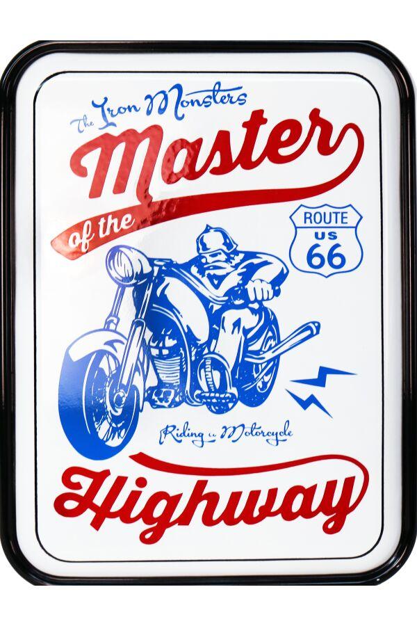 Retro Metallskylt Motorcycle