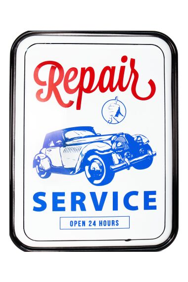 Retro Metallskylt Repair Service