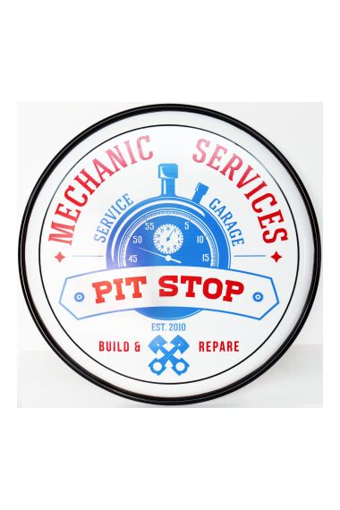 Retro Metallskylt Mechanic Services