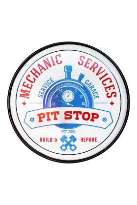 Retro Metallskylt Mechanic Services