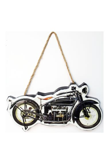 Retro Metallskylt Motorbike