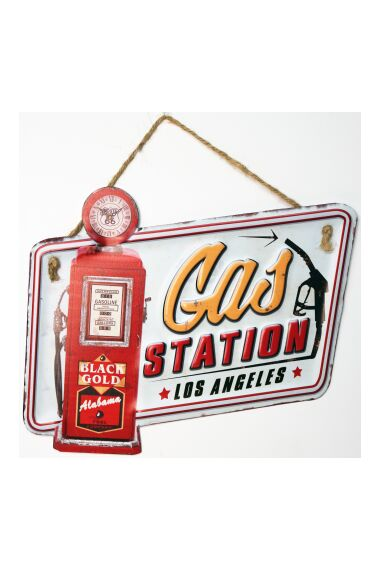 Retro Metallskylt Gas Station