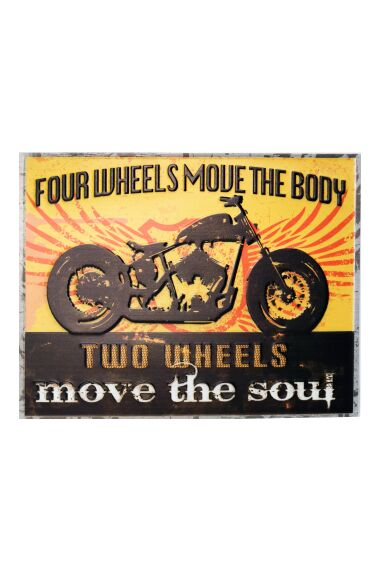 Retro Metallskylt Two Wheels Move The Soul