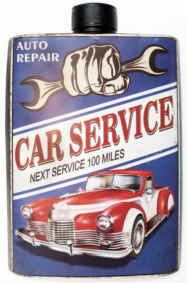Retro Metallskylt Car Service