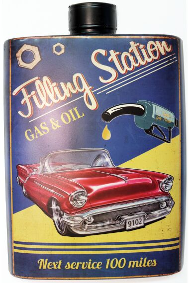 Retro Metallskylt Filling Station