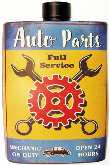 Retro Metallskylt Auto Parts