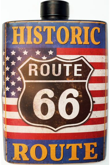 Retro Metallskylt Historic Route 66