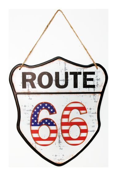 Retro Metallskylt Route 66