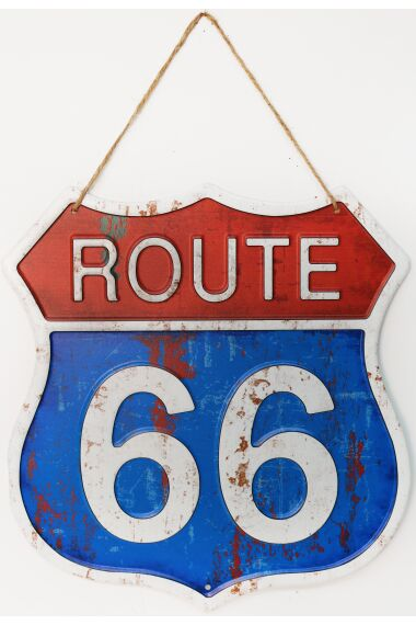 Retro Metall Skylt Route 66