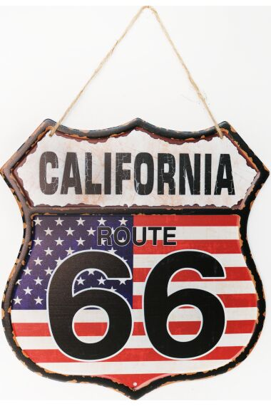 Retro Metall Skylt California Route 66