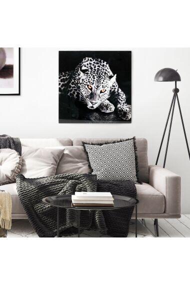 Tavla i Glas Leopard Yellow Eye