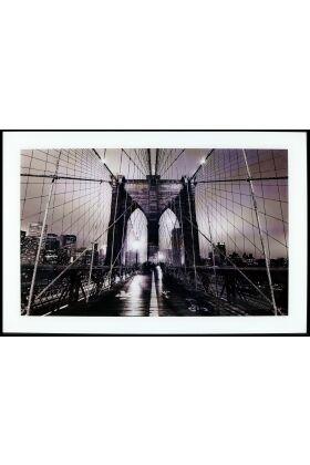Tavla i Glas New York Broklyn Bridge