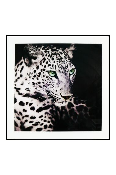 Tavla i Glas Leopard Green Eye