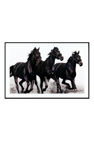 Tavla i Glas Black Horses