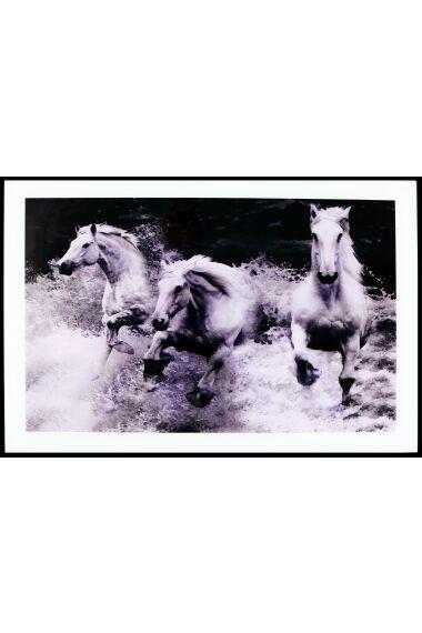 Tavla i Glas White Horses