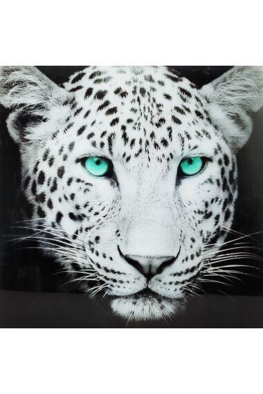 Tavla i Härdat Glas Leopard