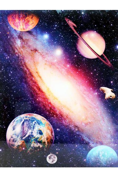 Tavla i Härdat Glas Universe