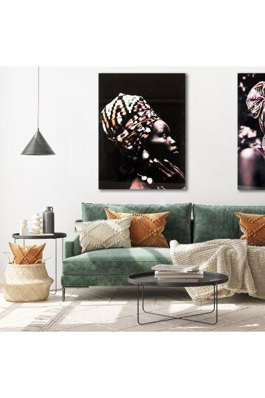 Tavla i Härdat Glas Tribal Women