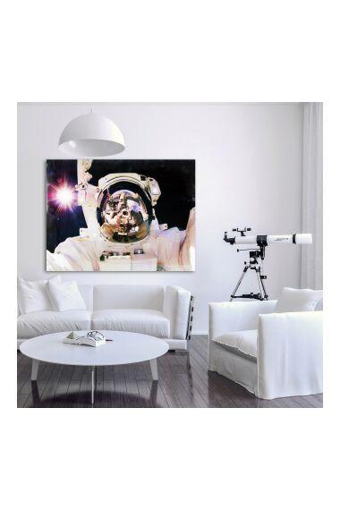 Tavla i Härdat Glas Space Selfie