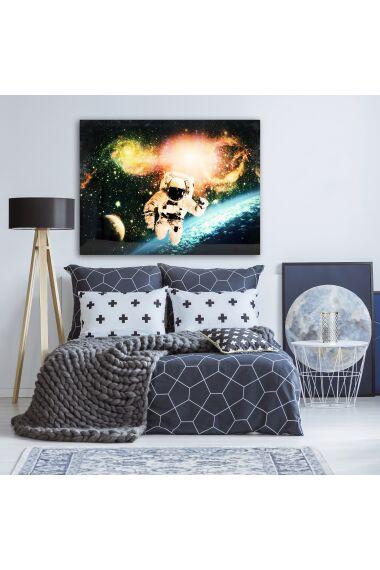 Tavla i Härdat Glas Astronaut