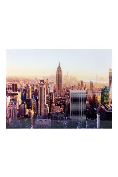 Tavla i Härdat Glas New York