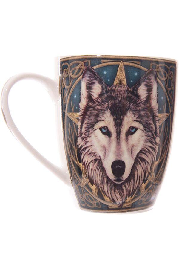 Lisa Parker Wolf Head Bone Mug