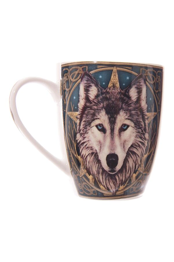 Lisa Parker Wolf Head Bone Mug