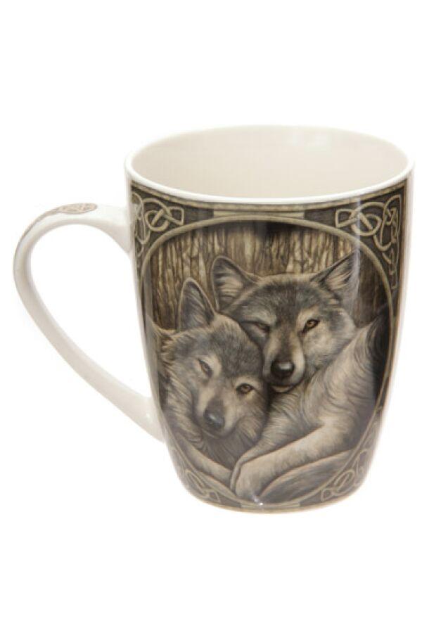 Lisa Parker Loyal Companions Wolf Bone Mug