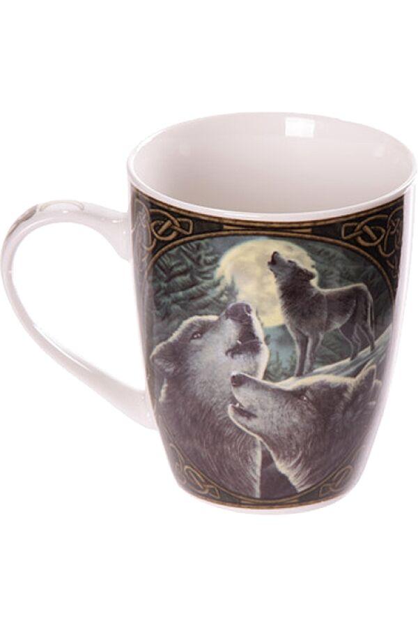 Lisa Parker Wolf Song Bone Mug