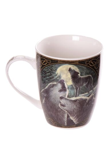 Lisa Parker Wolf Song Bone Mug