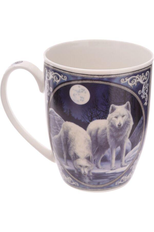 Lisa Parker Winter Warrior Wolf Mug