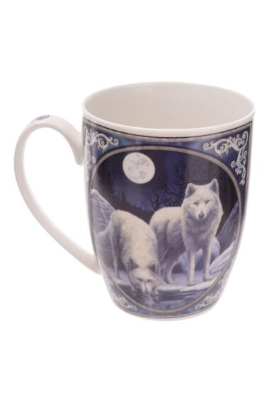 Lisa Parker Winter Warrior Wolf Mug