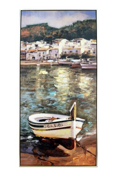 Tavla Oljemålning Boat