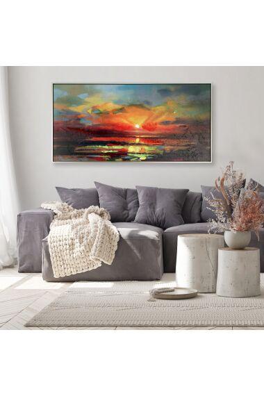 Tavla Oljemålning Sunset