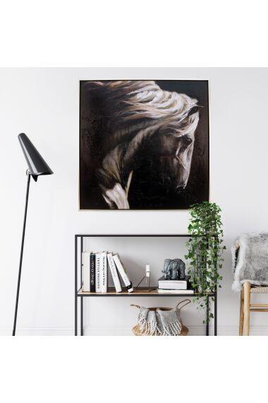 Tavla Oljemålning Horse