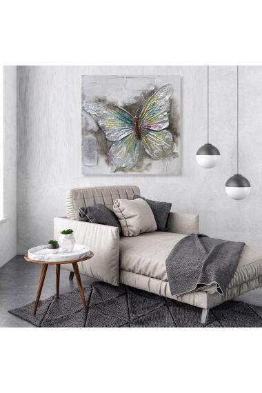 Tavla 3D Oljemålning Butterfly