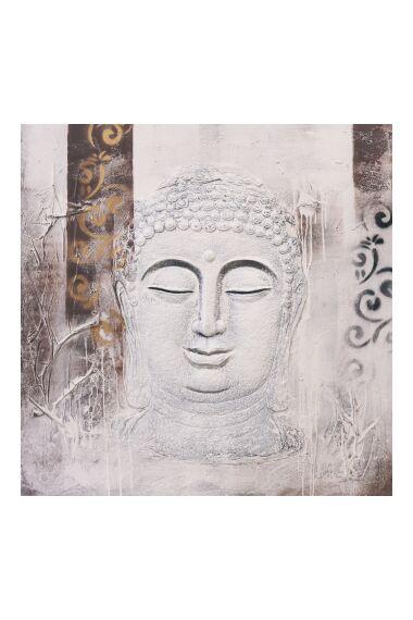 Tavla Oljemålning Buddha