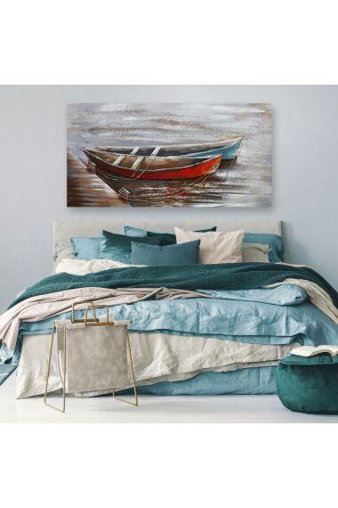 Tavla 3D Oljemålning Boat