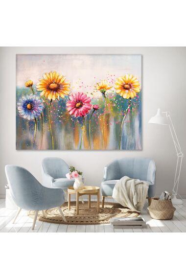 Tavla Oljemålning Flowers