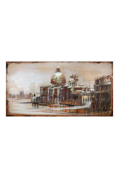 Tavla 3D Oljemålning Old Town
