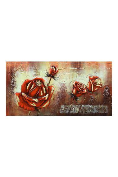 Tavla Oljemålning Rose