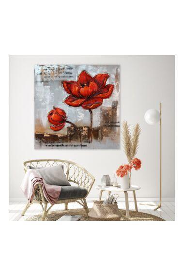 Tavla 3D Olje Målning Flower