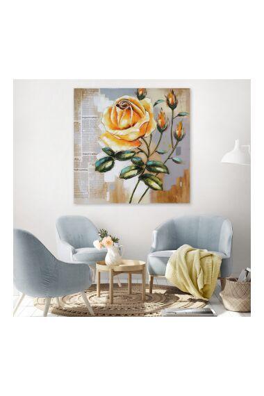 Tavla Oljemålning Yellow Rose
