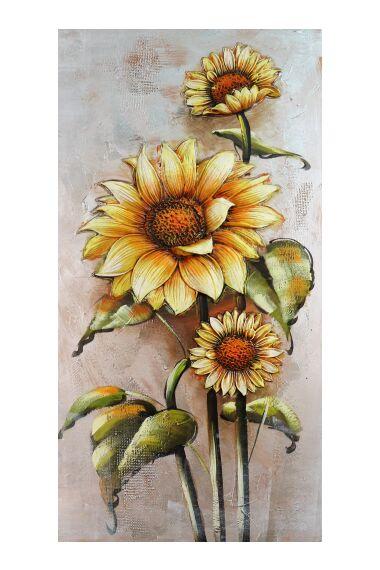 Tavla 3D Oljemålning Flower