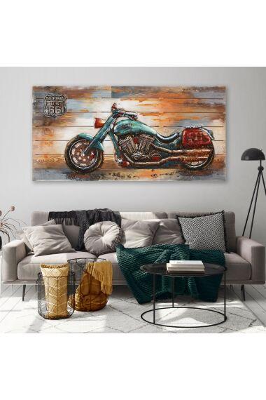 Tavla 3D Oljemålning Motorbike