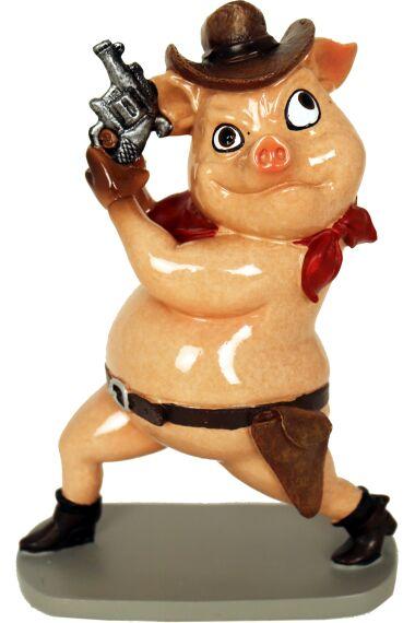 Gris Cowboy Funny Pig