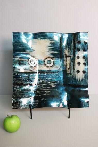 Handmålat Glasfat