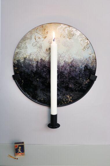 Handmålat Glas Ljusstake