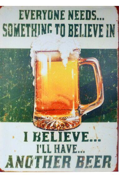 Tavla Canvas Belive In Beer
